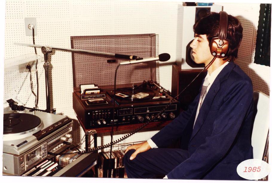 Equipamentos de gravação em 1985
